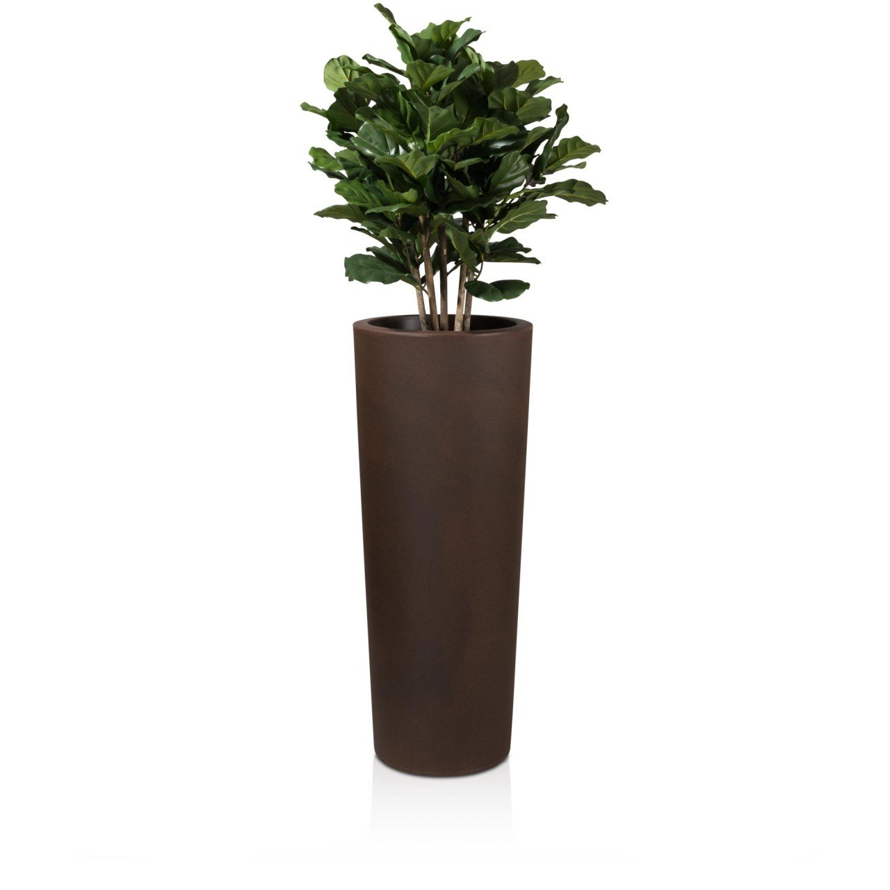 Pflanzkübel Blumenkübel CONO 110 Kunststoff, 45x45x110 cm, bronze matt
