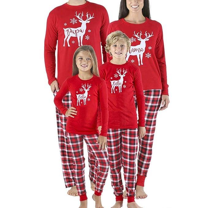 taglia 40 71d05 11c26 Luoluoluo Pigiama Pigiami Natale Famiglia Pigiami Donna ...