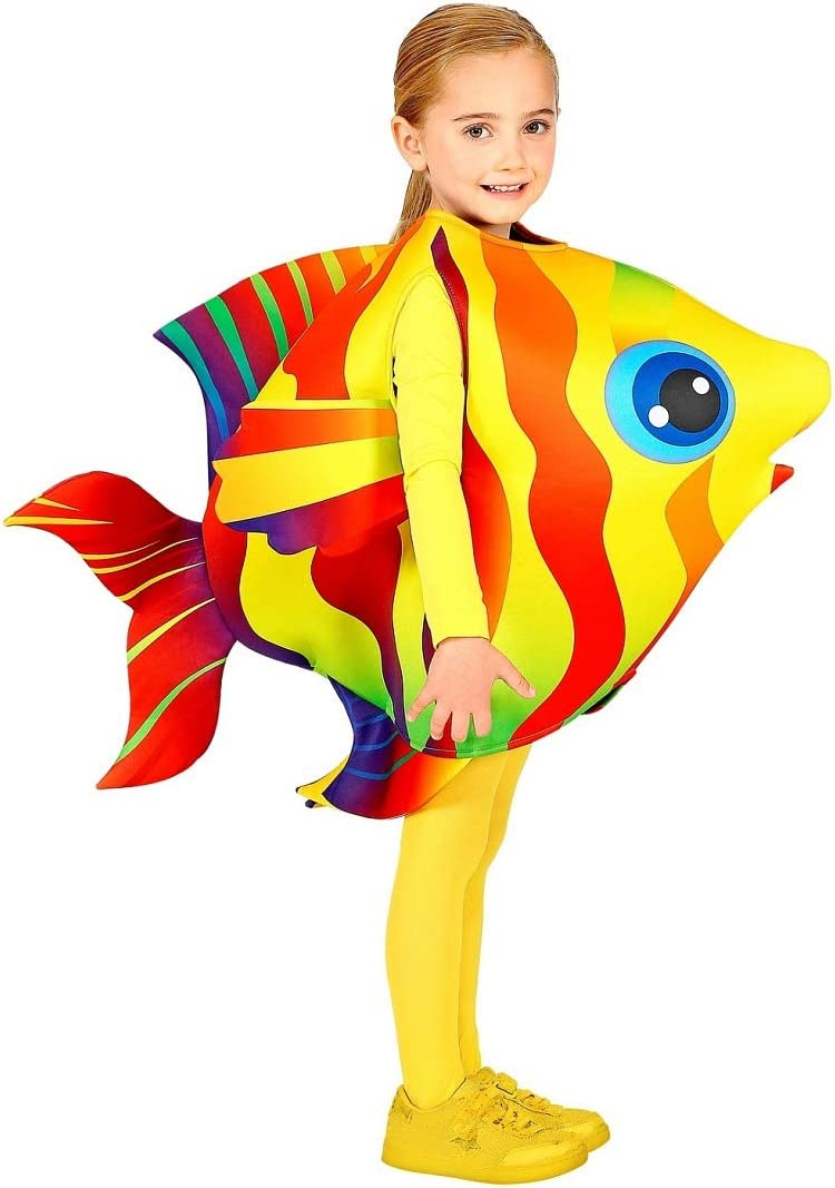 NET TOYS Disfraz Colorido de Pescado para niño y niña - 116-128cm ...
