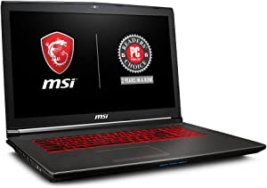 "MSI GV72 8RE-007 17.3"" Thin and Light Gaming Laptop GTX 1060 3G i7-8750H (6 Cores) 16GB 256GB SSD + 1TB Windows 10, VR Ready, Windows 10 64 bit"