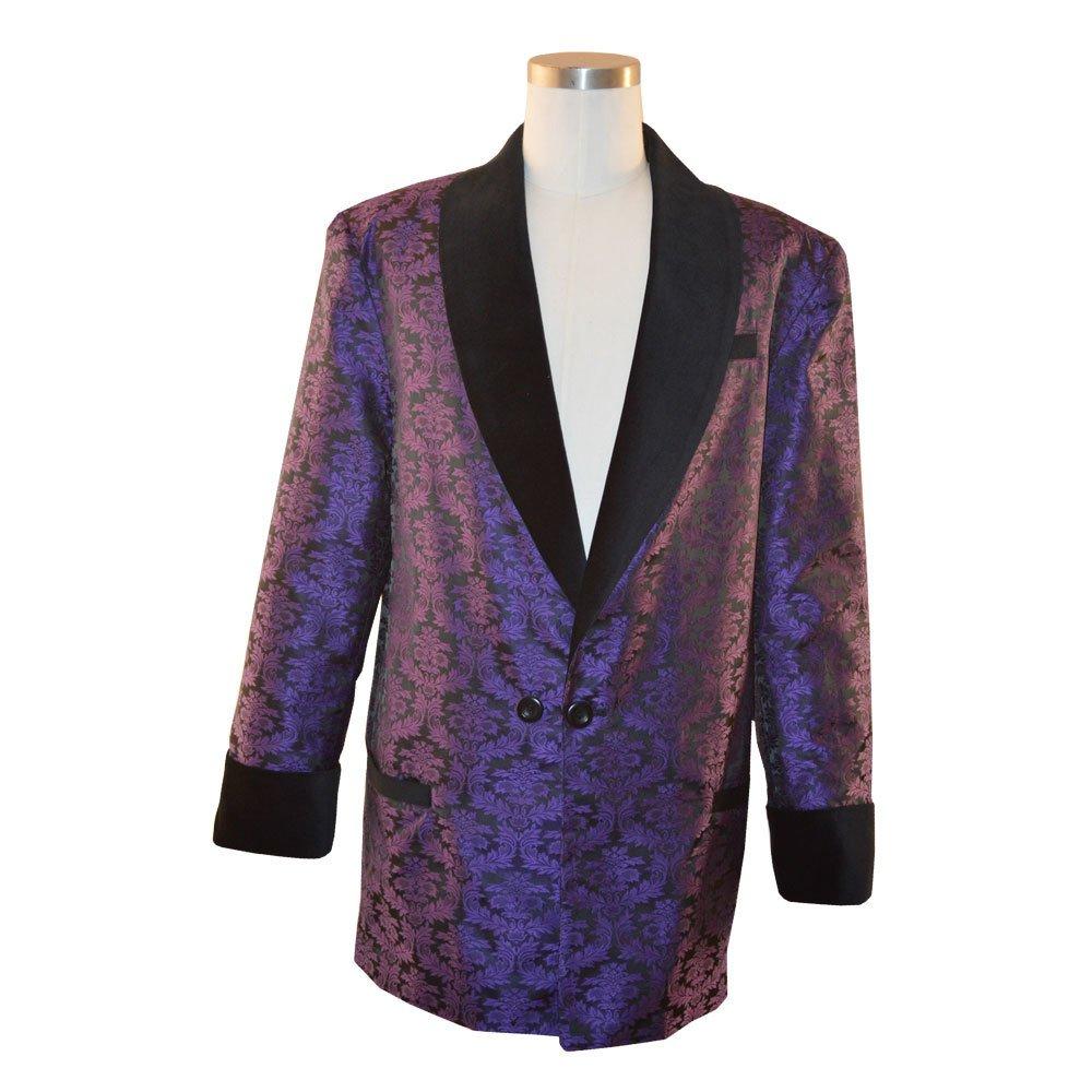 10831f70d Amazon.com: Women's Purple Brocade Smoking Jacket: Clothing