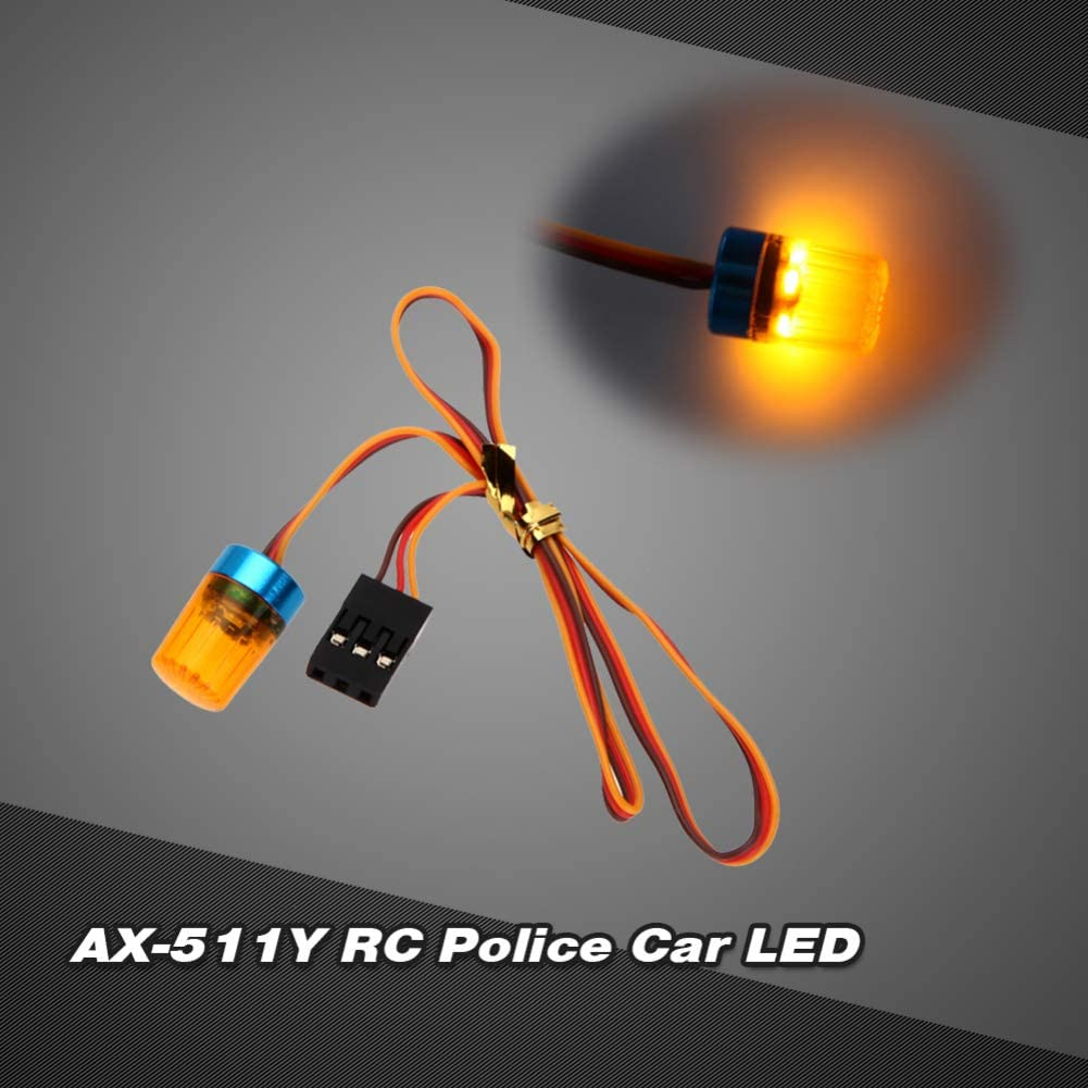 Dnasrivew AX-511Y Multifunctional RC Circular Police Car Model LED Flash Bright Light Lamp Red