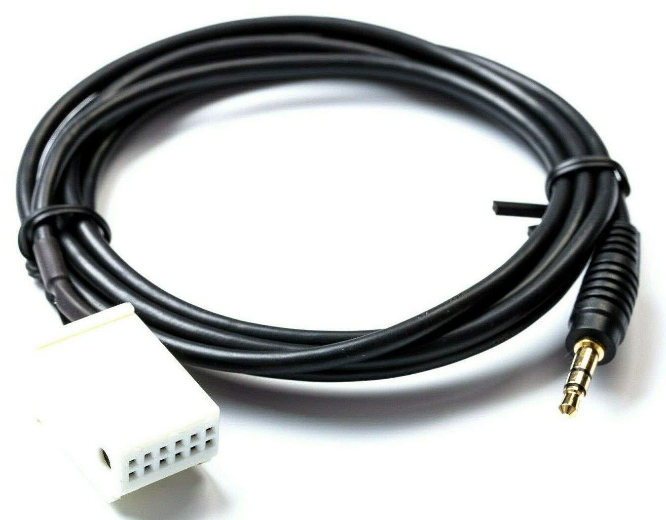 Adaptador AUX Compatible con Mercedes Comand APS NTG 2 Audio 20 50 MF2540 Cable MP3
