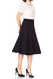 b456f1251a Dani's Choice Elastic Waist A-line Flared Long Skirt at Amazon ...