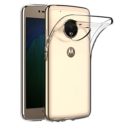 AICEK Funda Lenovo Moto G5 Plus, Transparente Silicona Fundas para Motorola Moto G5 Plus Carcasa (5,2 Pulgadas) Silicona Funda Case
