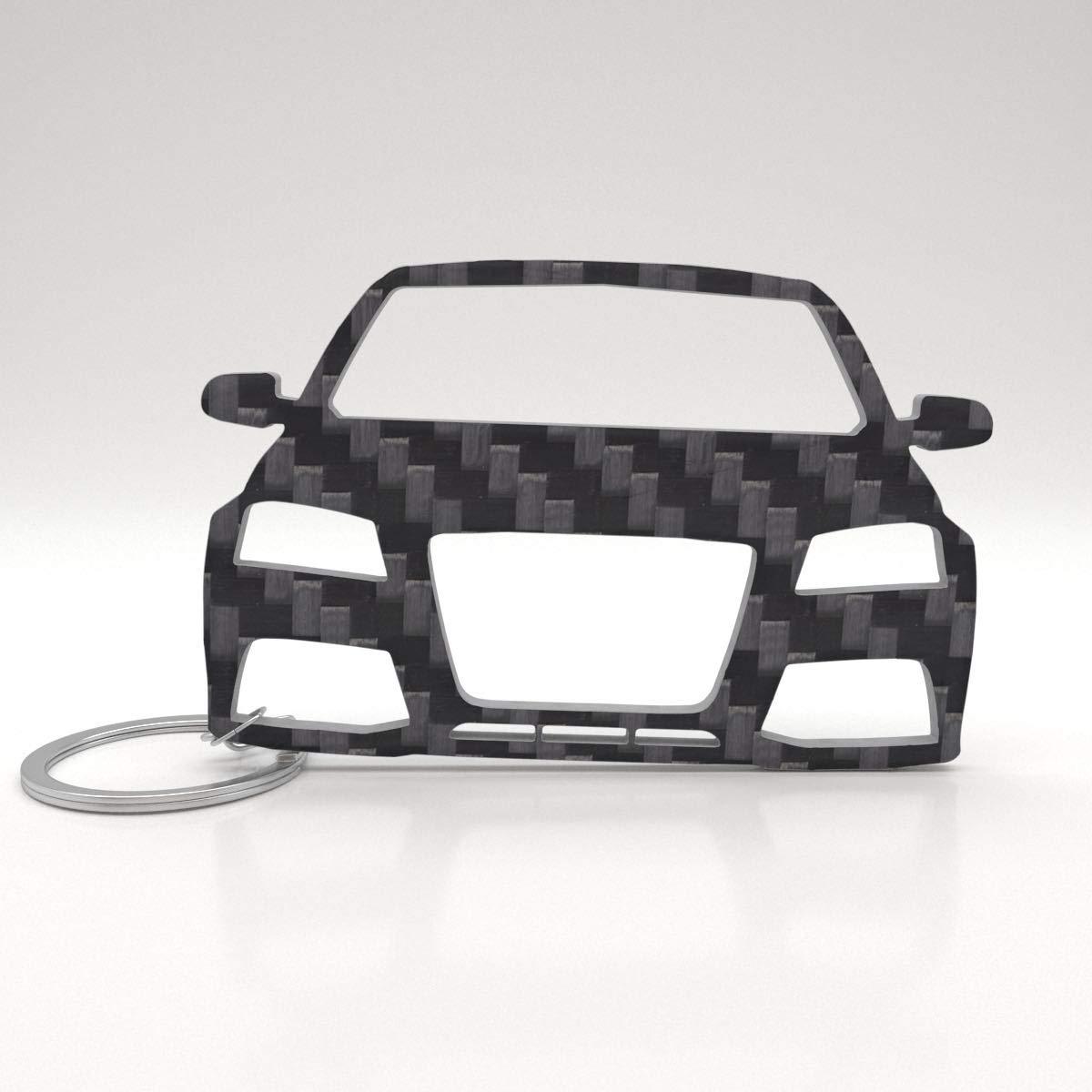 Llavero Audi de carbono auténtico, idea de regalo, tuning ...