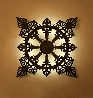 American Style Nostalgic Aisle Cafe Ghisa decorativo lampada da parete