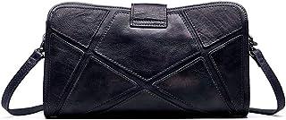 Limeinimukete Vintage en Cuir véritable Sac à bandoulière poignée supérieure fourre-Tout Sacs à Main cartables Sac à Main pour Dames (Color : Dark Purple)