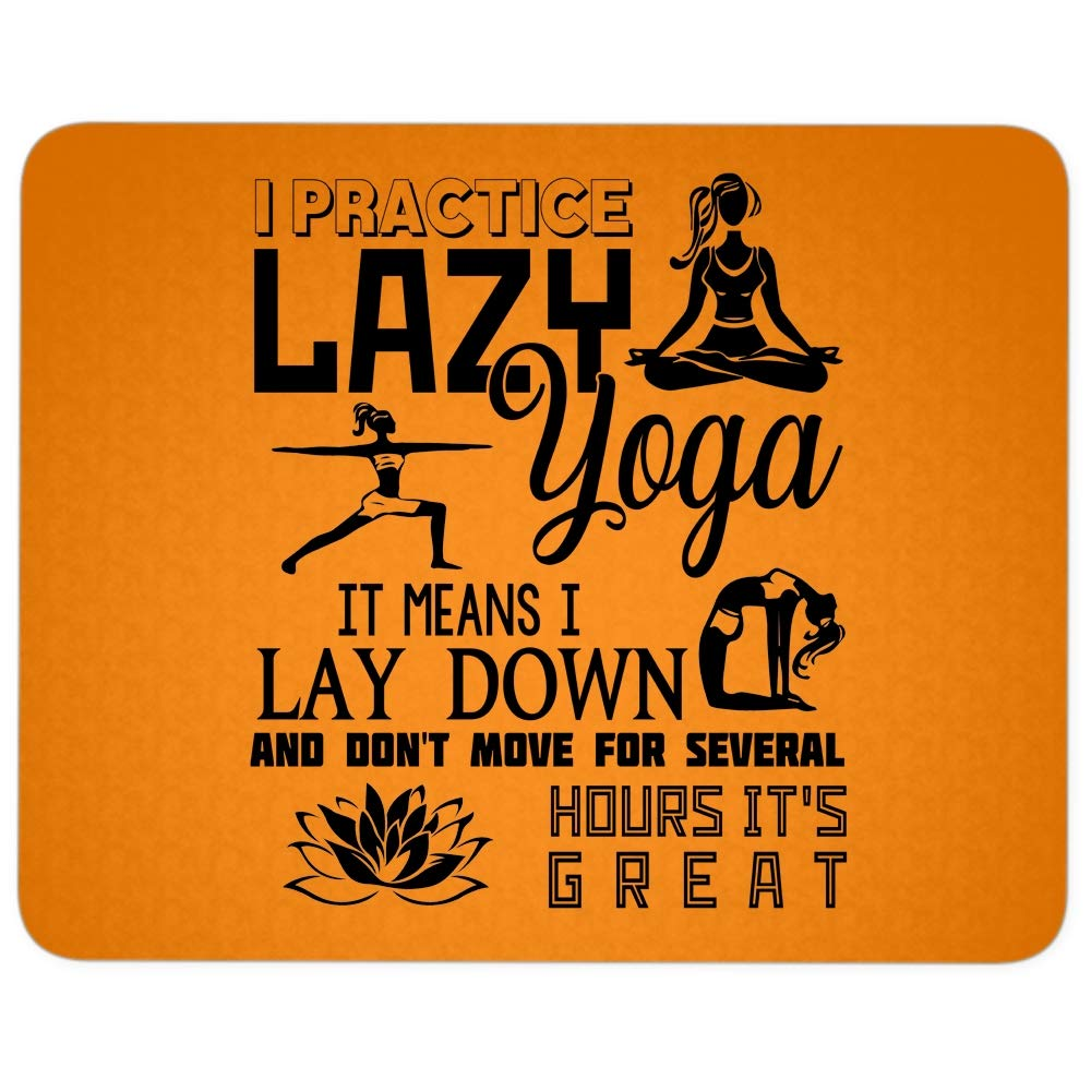 Amazon.com : I Practice Lady Yoga Mouse Pad for Typist ...