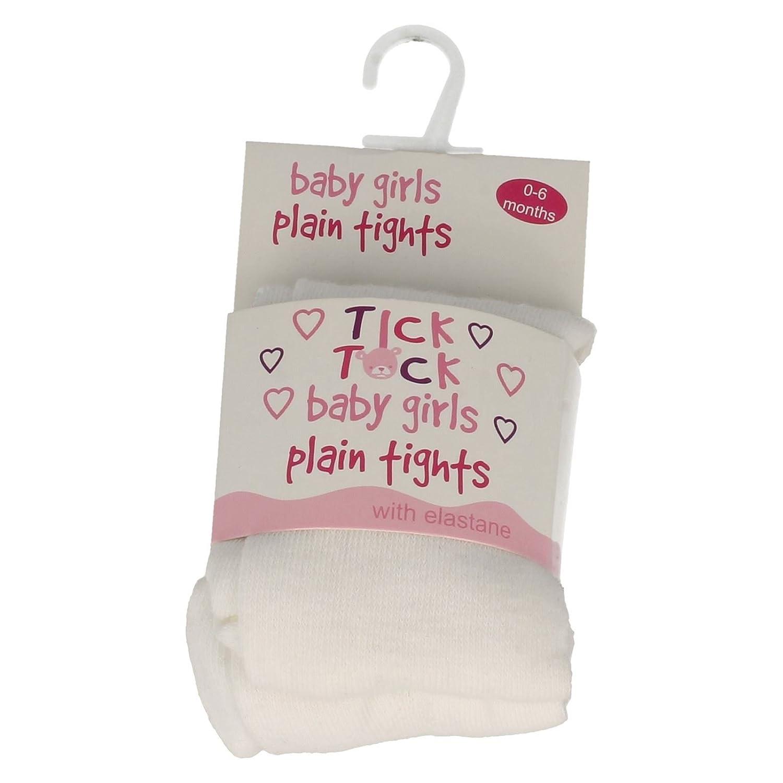 Baby Girls Tick Tock Plain Tights