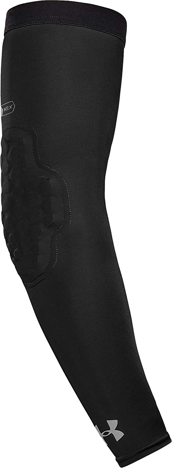 Under Armour Pro Hex Padded Elbow Sleeves for Football, Basketball, Volleyball and More, Youth & Adult Sizes, Sold as Single