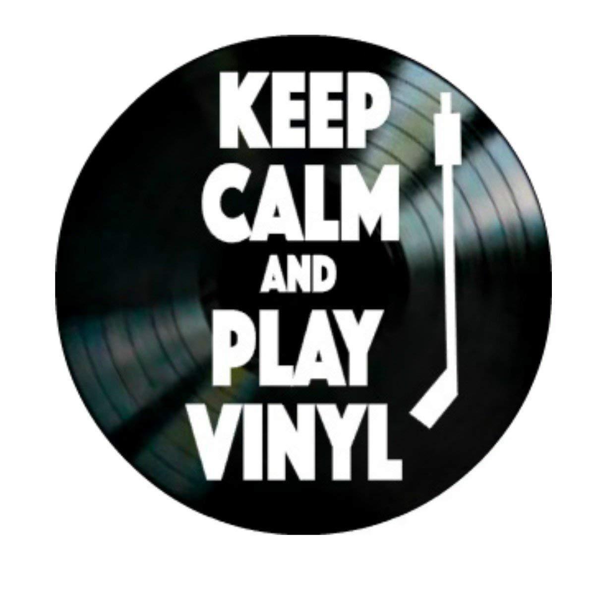Keep Calm and Play Vinyl Record Album Wall Art Home Decor Gift