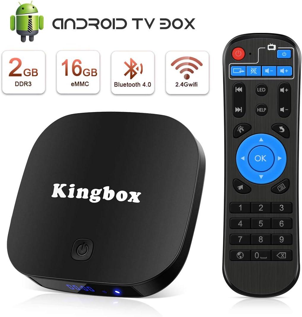 Android TV Box, Smart TV Box Quad Core 2GB RAM+16GB ROM, 4K*2K UHD H.265, HDMI, USB*2, WiFi Media Player, Android Set-Top Box: Amazon.es: Electrónica
