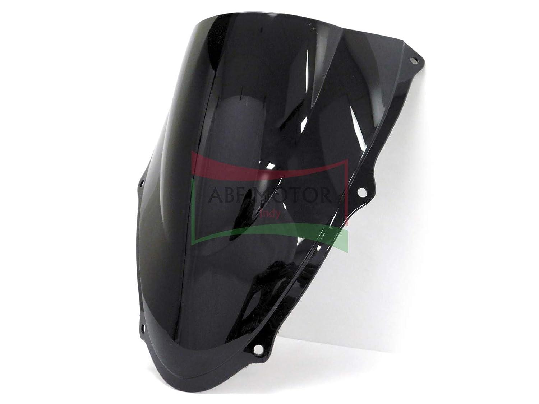 Protek ABS Plastic Injection Black Smoke Double Bubble Transparent Windscreen Windshield Front Visor for 2006 2007 Suzuki GSXR600 GSXR750