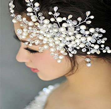 Pearl Hair Clip Wedding Bridesmaid Bridal Flower Girl Party Prom