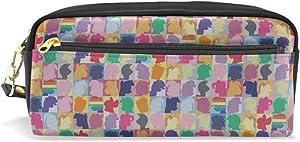 My Little Pony Twilight Sparkle Pinkie Pie Rainbow Dash Print Pu Leather Pen Pencil Case Pouch Case Makeup Cosmetic Travel School Bag