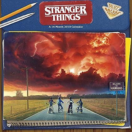 2019 stranger things wall calendar
