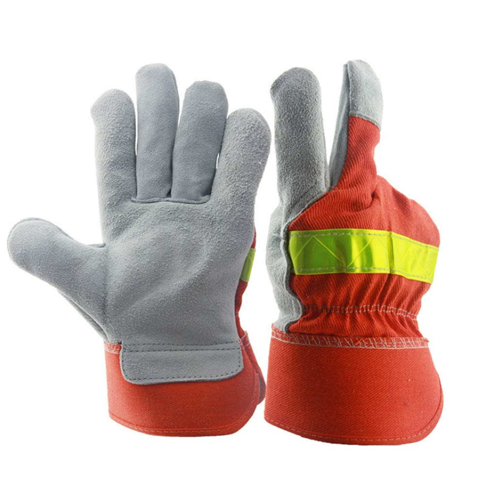 Shan water mouth Winter Climbing Cut-Proof Safety Gloves Welding Gloves, Two-Layer Leather Welding Gloves, Leather Anti-Cut Gloves, High-Temperature Resistant Gloves by Shan water mouth (Image #2)