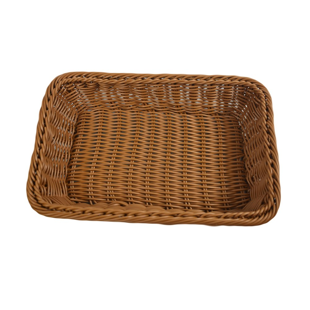 Julvie Rectangle Woven Bread Roll Baskets Holder, Food Serving Baskets