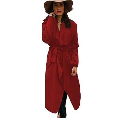 Home ware outlet - Abrigo - para mujer Rojo rosso Talla única: Amazon.es: Ropa y accesorios