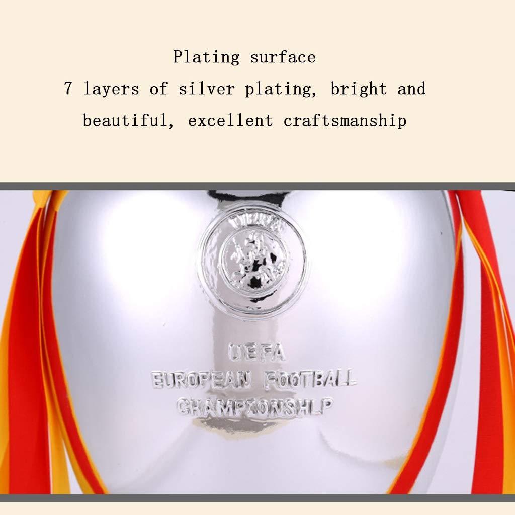 Trofeos Campe/ón de Oro Base de m/ármol Recuerdo de la Copa de Europa de 2016 Hollywood Mejor Regalo Medalla Modelo Color : Silver, Size : 16 * 10 * 6cm