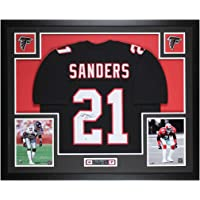 $595 » Deion Sanders Autographed Black Atlanta Jersey - Beautifully Matted and Framed - Hand Signed By Sanders and Certified Authentic by Beckett…