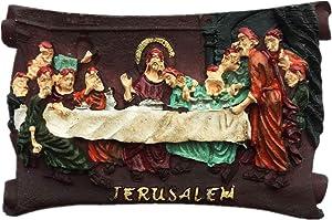 3D The Last Supper Jerusalem Israel Middle East Fridge Magnet,Home & Kitchen Decoration Magnetic Sticker Refrigerator Magnet Souvenir Gift