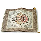 Thai asana Buddhist, meditation cushion, gold / brown size 24X24 inches