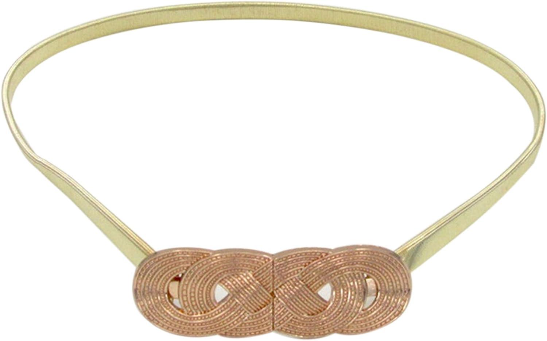 EOZY Mujer Cintur/ón de Matel Delgado Accesorios de Vestido