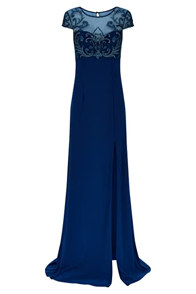 Vestidos largos azul petroleo
