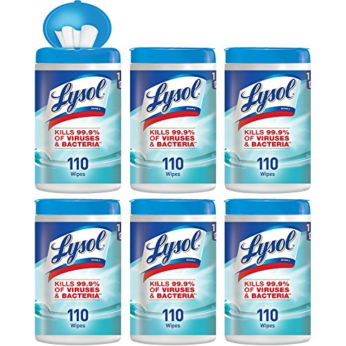 - Lysol Disinfecting Wipes, Ocean Fresh, 660ct (6X110ct),Packaging May Vary