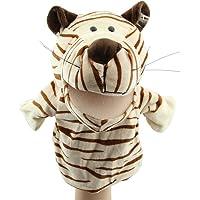TOOGOO Marionetas de mano animales de terciopelo de felpa lindo Disenos chic Juguete de ayuda de aprendizaje de nino chico (Tigre)