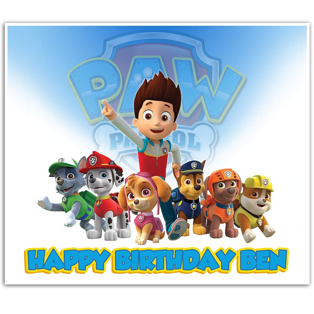 Paw Patrol Birthday Banner Party Backdrop 42 x 36