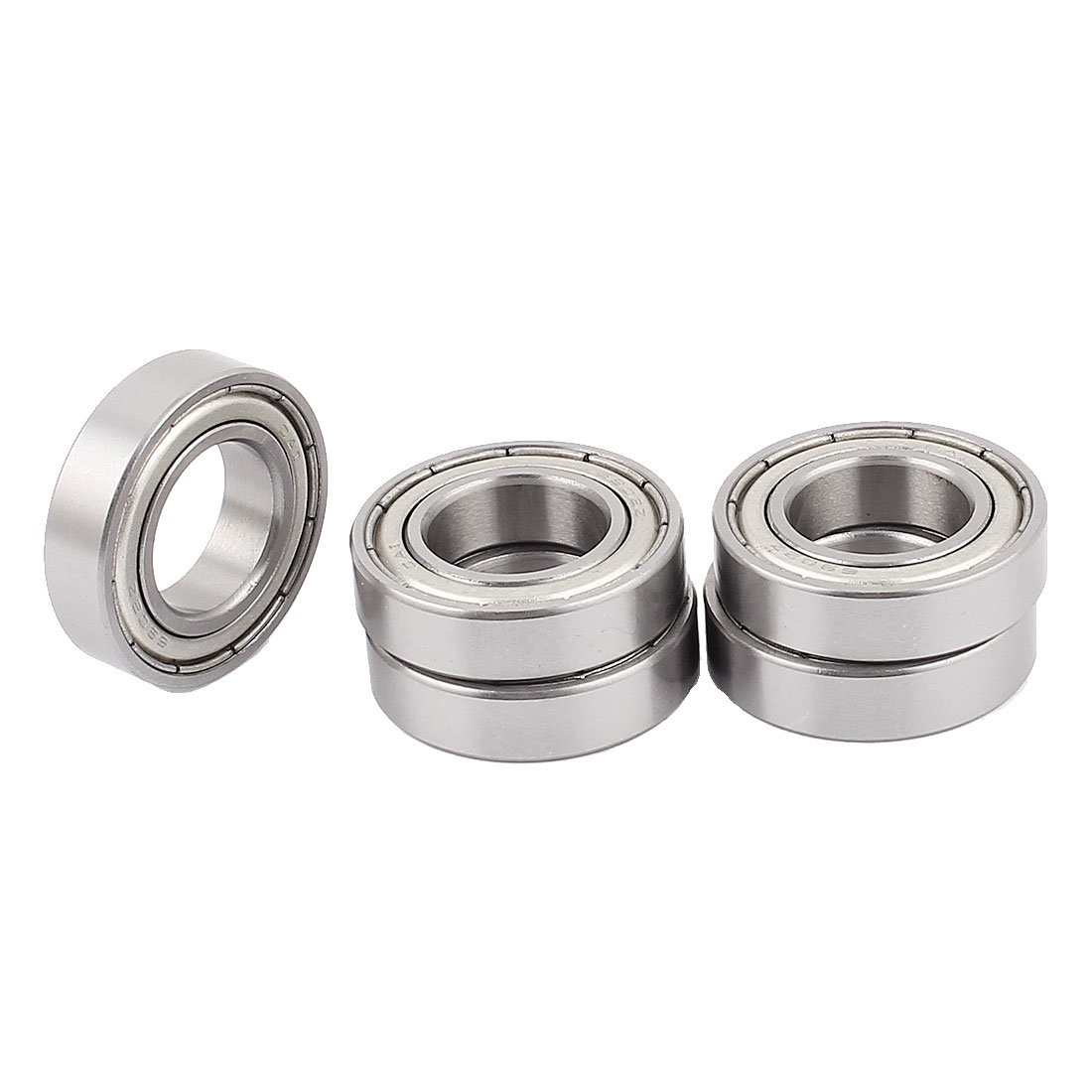sourcingmap® 6902Z 15 x 28 x 7mm Shielded Deep Groove Radial Ball Bearing 5Pcs a15113000ux2187