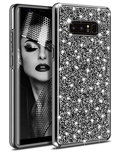 Galaxy Note 8 Case, Vofolen Galaxy Note 8 Case Glitter Bling Crystal Shiny Heavy Duty Protection Drop Resistant Dual Layer Hybrid Protective Shell Soft Bumper Hard Cover for Galaxy Note (Note Rhinestone)