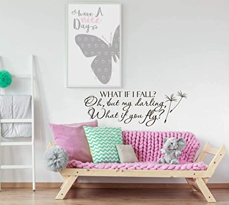 Amazoncom What If I Fall Oh My Darling What If You Fly Wall Decal