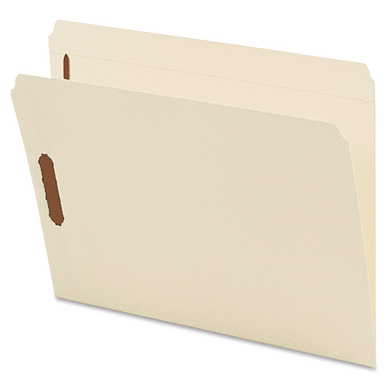 Smead Fastener File Folder, 2 Fasteners, Reinforced Straight-Cut Tab, Letter Size, Manila, 50 per Box (14513) by Smead