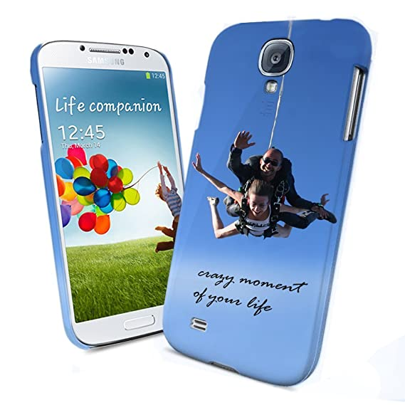 newest 062c1 4e07a Personalized Photo Samsung Galaxy S4 Custom Picture on Hard Case Cover  (White) by Lgu
