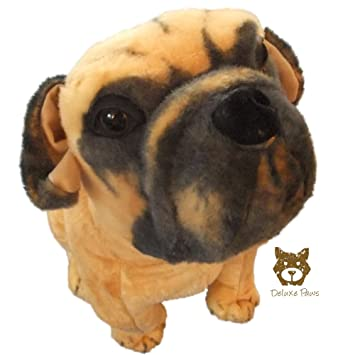 Deluxe Paws Large Pug Soft Toy 52cm 21 Amazoncouk Toys Games