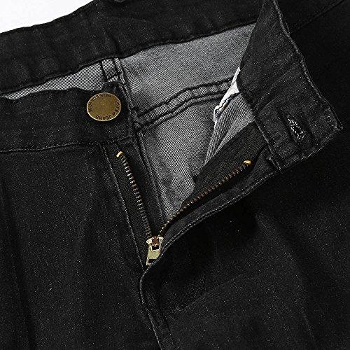 da Dry Slim Amuster piccoli Black Elastic Retro con da Denim piedi di Pantaloni uomo uomo Casual pqvpd