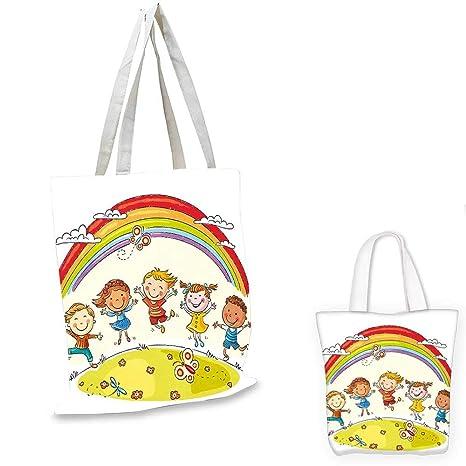 Amazon com: Rainbow easy shopping bag Kids Jumping with Joy