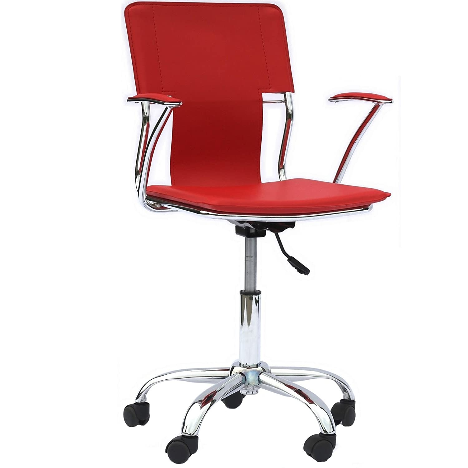seat office chair pu itm red leather desk bucket racing executive style