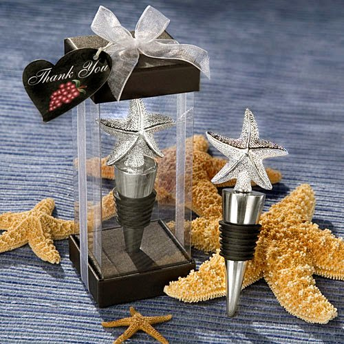 Starfish Design Wine - 20 Elegant Starfish Design Bottle Stopper Favors