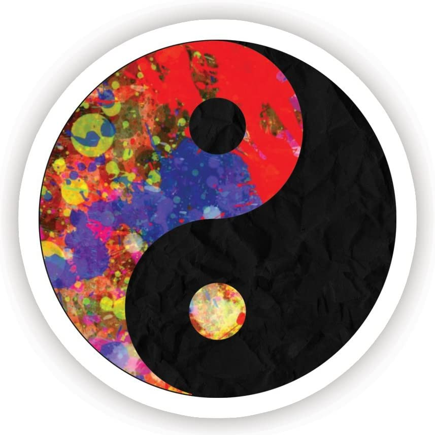 """Ying and Yang - Inspirational Stickers - 2.5"""" Vinyl Decal - Laptop, Decor, Window Vinyl Decal Sticker"""
