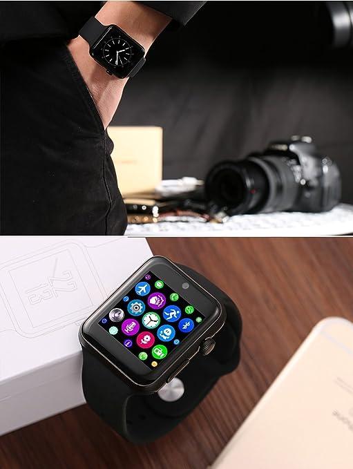 Amazon.com: ⌚ LEMFO LF07 Bluetooth Smart Watch SmartWatch for Apple iPhone iOS Android Smartphones Looks Like Apple Watch Reloj Inteligente (Black): Cell ...