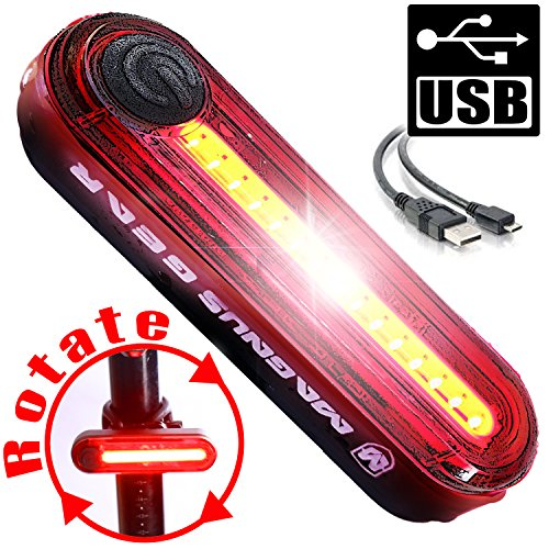 S100 USB Bicycle Tail Lights, Powerful 100 Lumen Bike Tail light Runs for 30+ Hours, Bike Light Fits on All Mountain Bikes, Dirt Bike, and Road Bike - 100% Satisfaction Guarantee!
