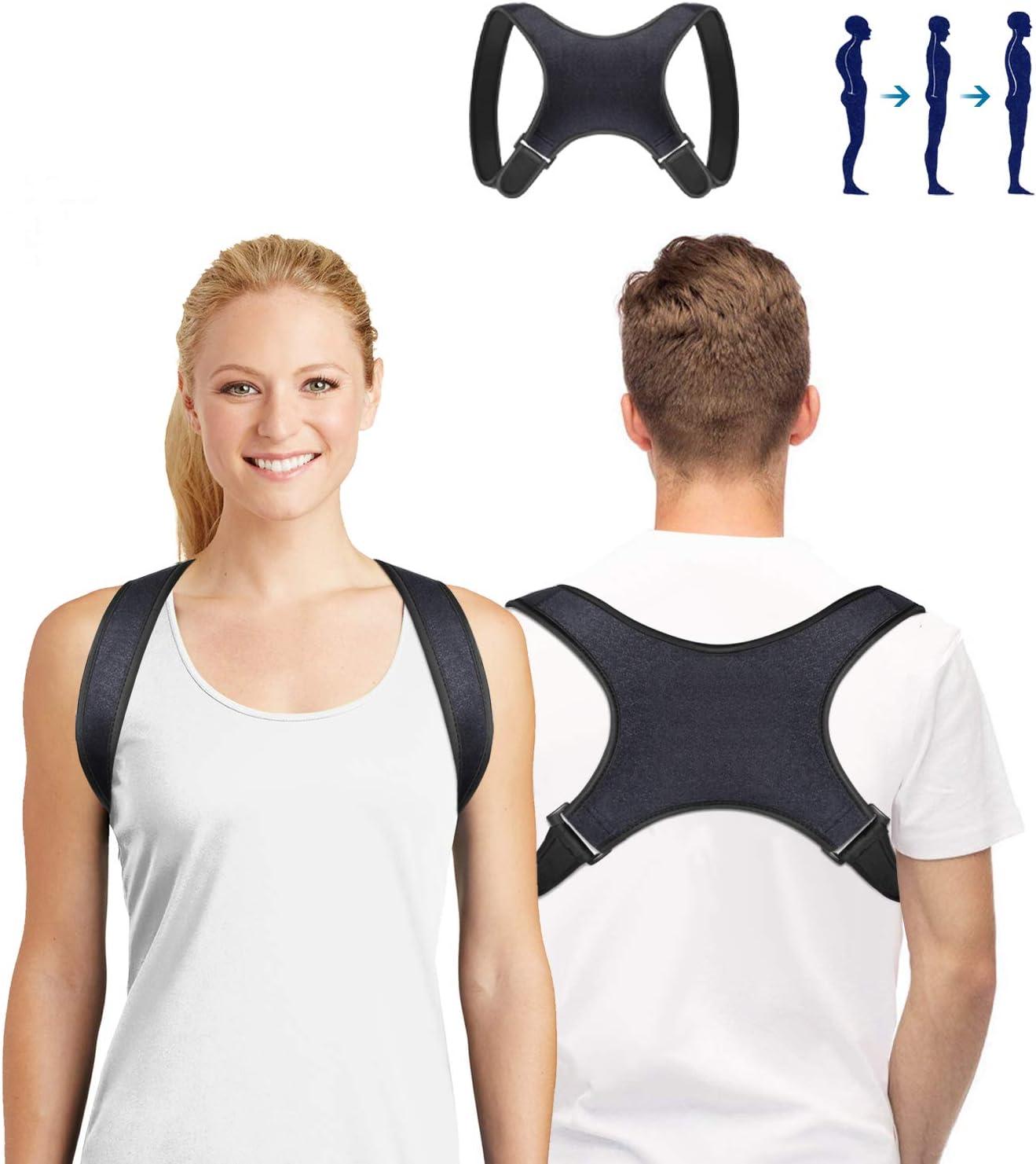 SUNNEY Corrector de Postura, Soporte de Espalda Ajustable para Hombres y Mujeres, Alivia el Dolor de Espalda, Hombros y Cuello, Mejora la Postura de Espalda y Hombros