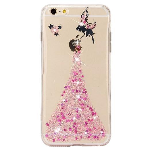 13 opinioni per iPhone 7 plus Cover, Sunroyal® Crystal Clear Glitter di Bling Custodia Ultra