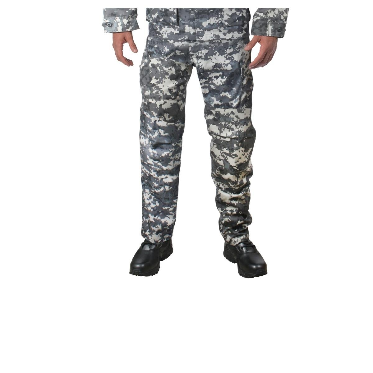 Subdued Urban Digital Camouflage Military BDU Fatigue Pants, Medium Long 9634MED