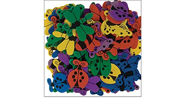 i-mondi Mariposas de foamy para manualidades 120 piezas motivos y colores surtidos: Amazon.es: Oficina y papelería